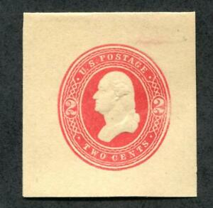 U.S. W287 Cut Square, 2c Red, manila wrapper