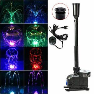 ECO Springbrunnenpumpe Wasserspielpumpe Teichpumpe RGB LED Beleuchtung Klein