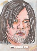 Walking Dead Evolution Sketch Card Daryl by Nathan Ohlendorf