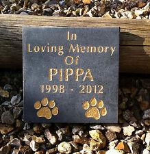 Slate Grey Granite Pet Memorial Stone Plaque