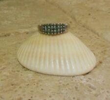 Estate 14k Fancy BLUE DIAMOND Band Ring A Great Gift Idea!