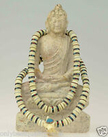 Mala Halskette Knochen Schmuck Tibet Nepal Gebetskette Rosaire Buddha 86e