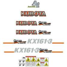 Kubota KX161-3 Decals - Repro Sticker Kit