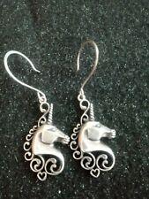Unicorn Earrings Sterling Silver