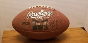 Peyton Manning #18 Rawlings Official Football Junior Size Ball Sports Signed