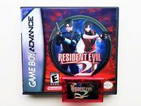 Resident Evil 2 Prototype Tech Demo Game Boy Advance GBA Custom (Unreleased USA)