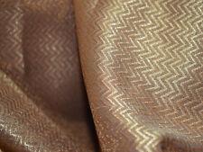 Chevron Weaving Brocade Fabric Copper Chevron Brocade