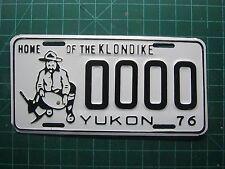 "1976 Canada Yukon Sample license Plates  ""Home of the Klonike""  Yukon 76"