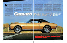 1967 CHEVROLET CAMARO RS/SS 396/375 HP ~ GREAT 4-PAGE ARTICLE / AD