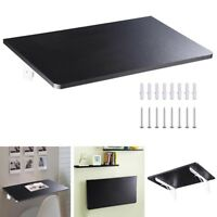 Wall Mounted Floating Folding Computer Desk PC Table Space Saving Home Black