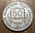 TRES BELLE PIECE DE 50 FRANCS AFRIQUE DE L'OUEST 1972 (92)