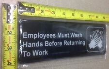 New listing Employees Must Wash Hands adhesive sign door advertisement Information Symbol