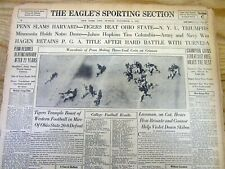 1927 headline newspaper WALTER HAGEN wins his 3rd PGA GOLF CHAMPIONSHIP title