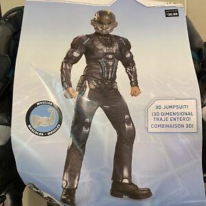 Halo Spartan Locke Costume Jumpsuit Child Sz 7-8 Medium 7+ Years