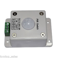 LED MOTION SENSOR SWITCH 12-24 VOLT PIR LIGHT ON/OFF CONTROL LIGHTING