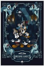 Disney Mickey Mouse Lonesome Ghosts Mainger Poster Screen Print Art 16x24 Mondo