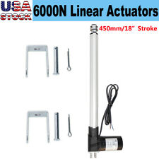 Electric 450mm 18 Stroke Linear Actuator 1320 Lbs Lift 6000n Max Load 12v Motor