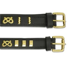 Ancol Staffordshire Bull Terrier Collar Leather Staffy Staffs Knot Emblem Black 25 X 55mm