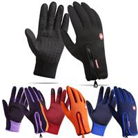M-XL Winter Handschuhe Fahrradhandschuhe Warm Winddicht Touchscreen Herren Damen