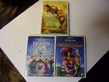 FROZEN/ RETURN TO NEVERLAND/ MUPPETS WIZARD OF OZ  DVD LOT OF 3 DISNEY
