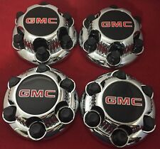 "4  Chrome GMC SIERRA SAVANA YUKON 6 Lug Center Caps for 16"" 17"" Steel rims."