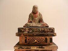 Antico EDO giapponese Jizo Bosatsu Bodhisattva intaglio del legno (circa 1681) Firmato
