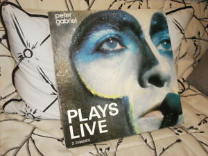 vinyle 33 TOURS PETER GABRIEL (Genesis) - Plays live - 2 LP TBE