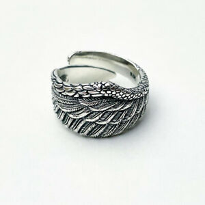 ANGEL WINGS RING STERLING SILVER 925 RING SOLID LOVE RING RESIZABLE