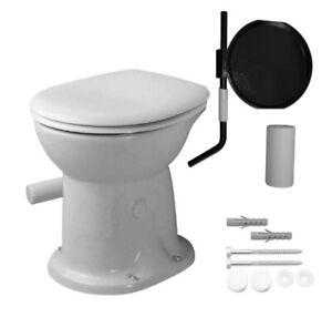 Trocken WC Klosett weiß Klappe 360x460x420mm +Gratis Befestigung Gartentoilette