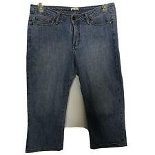 Womens LEE  Lower On The Waist Size 12 P Capri Blue Jeans