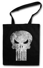 PUNISHER SKULL Hipster Shopping Cotton Bag - Insignia Logo Symbol Hero Comic TV