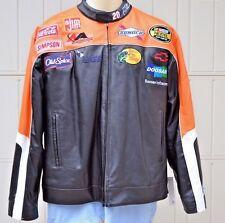 NWT 2005 Tony Stewart #20 Leather Home Depot NASCAR Racing Jacket Size Medium