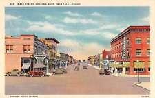 Twin Falls Idaho Main Street Looking West Antique Postcard J48613