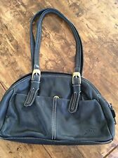 womens purses and handbags/Stone Mountain Black Leather Shoulder Bag