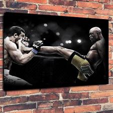 """Anderson Silva Arti Marziali Miste UFC STAMPA FOTO SU TELA A1.30""""x20""""30mm di profondità"""