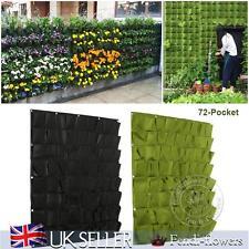 72 Hanging Garden Pocket Vertical Greening Outdoor Indoor Plant Planting Bag