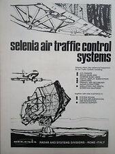 1/1972 PUB SELENIA ATC AIR TRAFFIC CONTROL SYSTEMS RADAR AIRPORT ORIGINAL AD