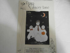 1993 The Ghostly Affair Ghost Fabric Paint Craft Traceable Pattern Cat Pumpkin