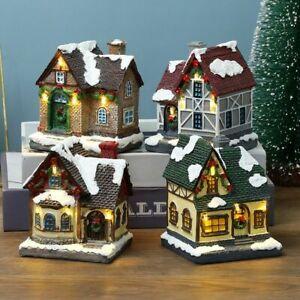 Village Sets Christmas Ornament Town Decoration Kids Gift Scene Village Houses