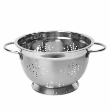 Dexam Stainless Steel Footed Colander, 22cm, Silver