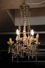 Crystal chandelier Art deco chandelier Bronze chandelier French antique lighting