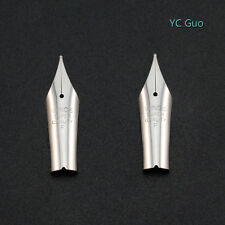 2X Fine Nib For Wing Sung 659 & WS 698 Little Soft Nib Fountain Pen Silver Color