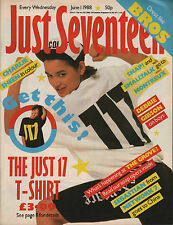 Just Seventeen Magazine 1 June 1988  Charlie Sheen  Debbie Gibson  Clive Griffin