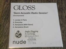 Gloss:  Semi acoustic radio session   four  track promo CDr