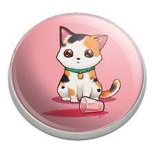 Kawaii Cute Cat Spilled Glass of Water Golfing Premium Metal Golf Ball Marker