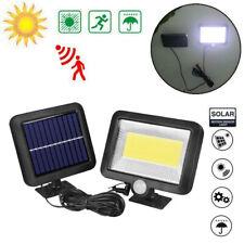 Lampe Solaire 100 LED PIR éclairage Spot Lumière Sécurité pour Jardin Extérieur
