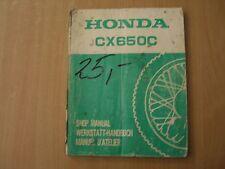 Werkstatthandbuch Honda CX 650 C 1983 Shop manual  Manuel d`atellier