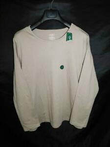 L.L. Bean 1X NWT Ledge Brown T Shirt Pima Cotton Long Sleeve Crew Neck NEW Tags