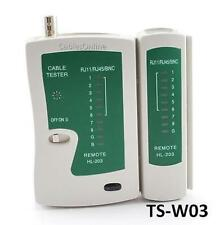 BNC, RJ45, RJ11, and RJ12 Remote Network Cable Tester, CablesOnline TS-W03