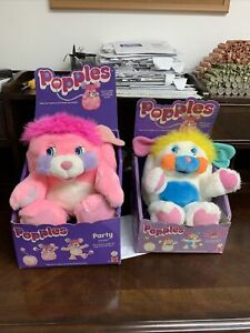 2 Original POPPLES Vintage 1980's- Unplayed With ORIGINAL PACKAGING & Puffball
